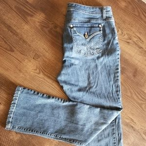 Style & Co Bling Pocket Bootcut Jeans